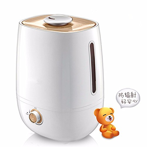 Ultrasound Atomization Humidifier Colorful Gradient Light (White) - 5