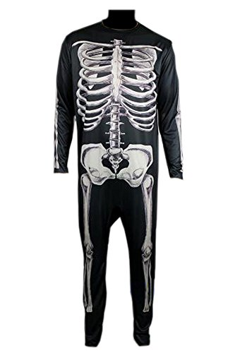Donnie Darko Skeleton Suit Party Adult Costume Fancy Jumpsuit (M)