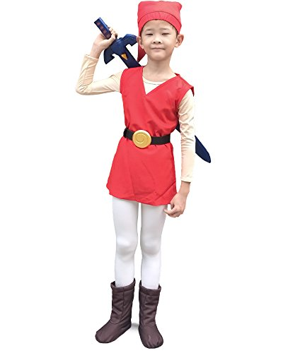 [Miccostumes Boy's the Legend of Zelda Four Swords Link Red Cosplay Costume (S)] (Cosplay Costume Zelda)