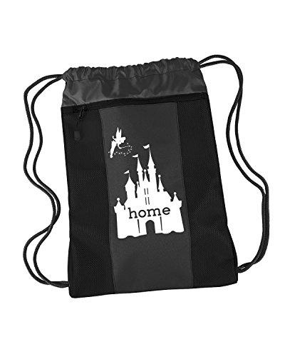 Cinch Nylon (Disney Is My Home Nylon Cinch Backpack (Black - Prime))