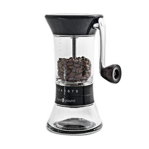 (Handground Precision Manual Coffee Grinder: Conical Ceramic Burr Mill (Black))