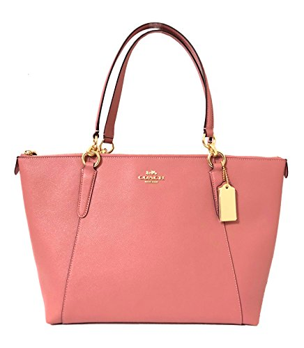 - Coach AVA Leather Shopper Tote Bag Handbag (IM/Vintage Pink)