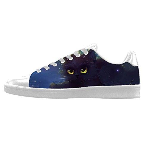Da Alto Di Ginnastica In Lacci Men's Le Delle Gatti Pittura Canvas Sopra Custom Tela Scarpe Shoes I 4q6RPZ