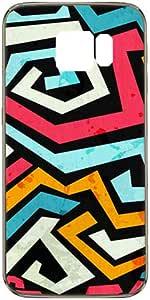 Compatible with Samsung Galaxy S6 Edge Bright Graffiti Design Case - Multi Color