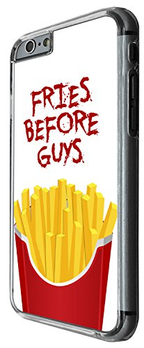 1461 - Cool Fun Trendy junk food fries before guys take away Design iphone 6 6S 4.7'' Coque Fashion Trend Case Coque Protection Cover plastique et métal - Clear