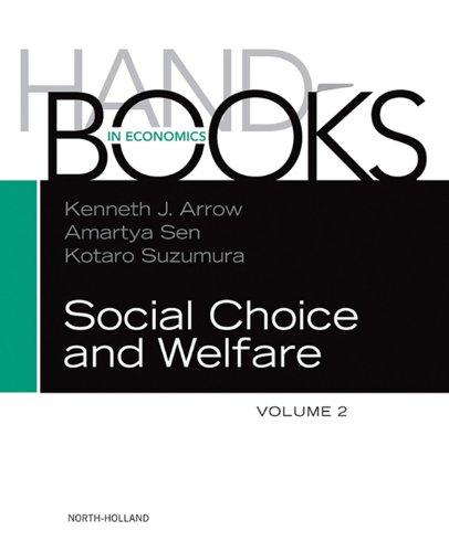 Handbook of Social Choice and Welfare (Handbooks in Economics 2)