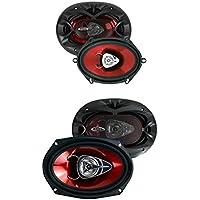 2) Boss CH5720 5x7 225 Watt + 2) CH6920 6x9 350 Watt 2-Way Car Audio Speakers