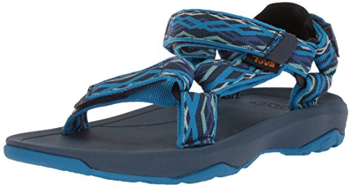 (Teva Boys' Y Hurricane XLT 2 Sport Sandal, Delmar Blue, 5 M US Big Kid)