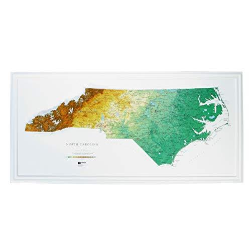 Hubbard Scientific Raised Relief Map 956 North Carolina State Map ()