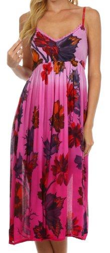 Sakkas 07611 Heavenly Blossom Summer Dress - Pink - 1X