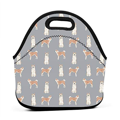 it Dog Breeds Grey Lunch Bag Insulated Thermal Lunch Tote Outdoor Travel Picnic Carry Case Lunchbox Handbags with Zipper ()