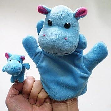 TY increíble hipopótamo animales de peluche de juguete marionetas de mano niños