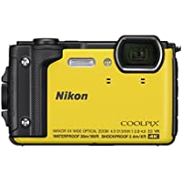 Nikon W300 Waterproof Underwater Digital Camera with TFT LCD, 3, Yellow (26525)