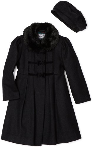 Rothschild Little Girls'  Coat with Velvet Bows