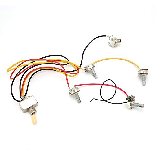 8Eninine 1 Full Set LP SG Electric Guitar Pickup Wiring Harness Potentiometers Kit