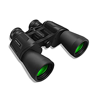 BRIGENIUS 10 x 50 Binoculars for Adults, Powerful Binoculars for Bird Watching, Multi-Coated Optics Durable Full-Size Clear Binocular for Travel Sightseeing Hunting Outdoor Sports Games and Concerts