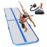 Grace Tech Airtrack Tumbling Mat Inflatable Gymnastics Mat with Electric Air Pump/Travel Bag for Cheerleading Parkour Home Beach Pool