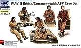 Bronco CB350981/35British Commonwealth armoured fighting vehicle crew figurine set WWII