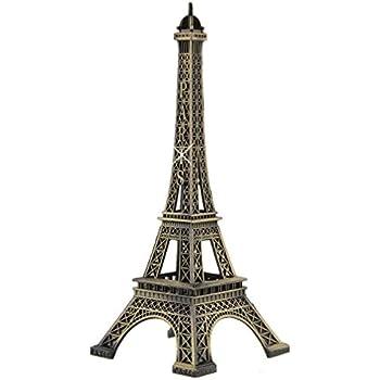 Haiker 15cm Paris Eiffel Tower Craft Art Statue Model Desk Room Decoration Gift,Bronze