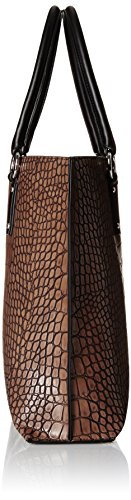 ARMANI JEANS CROCO SHOPPING BAG 9221456A711 Marrone