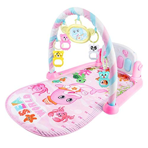 (GAOYY Gym New-Born Baby Play Mat with Music and Sounds Activity Mat Discovery Fold Piano Educational Toys,Pink)
