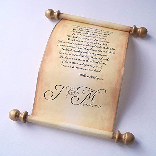 Wedding vows scroll, love letter, secret message scroll, anniversary gift on aged paper, 5x13