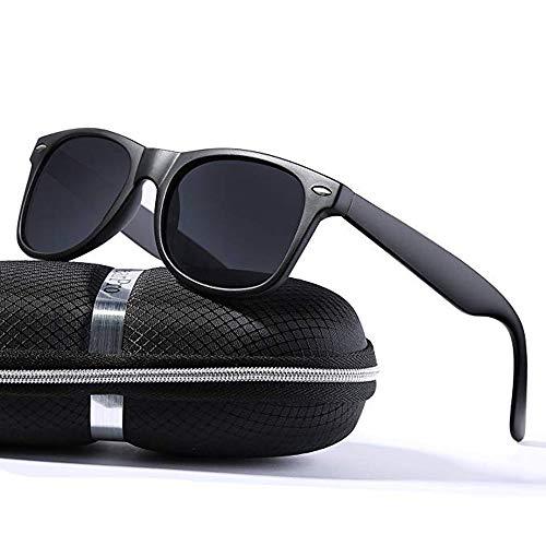 6ae59eb270e Sunglasses for Men Vintage Polarized Sun Glasses Mens Shade WP1001-2(matte  Black)