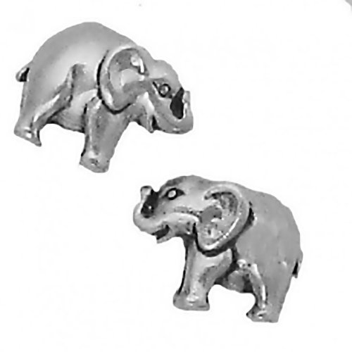 Corinna-Maria 925 Sterling Silver Elephant Earrings Studs Tiny Mini Stainless Steel Posts and Backs