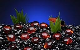 Penn-Plax Aquarium Decorative Gem-Stones Red 90 Pcs