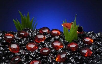 Penn-Plax Aquarium Decorative Gem-Stones Red 90 Pcs by Penn Plax