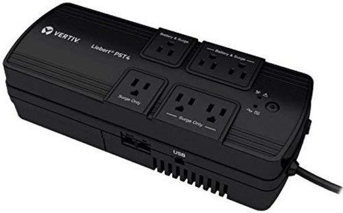 Libert PST4-500MT120 6-Outlet Battery Backup and Surge Protection UPS - AC 120V - 500 VA/300 Watts - 5 Ah - USB - Black (Certified Refurbished)