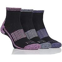 STORM BLOC Women's 3 Pack Womens Breathable Cushioned Ankle Sport Socks, Black, 4-8 Womens UK