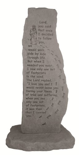 Footprints In the Sand Memorial Stone Totem Review