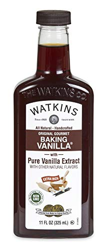 Watkins All Natural Original Gourmet Baking Vanilla, with Pure Vanilla Extract, 11 oz. Bottle (Packaging May Vary)