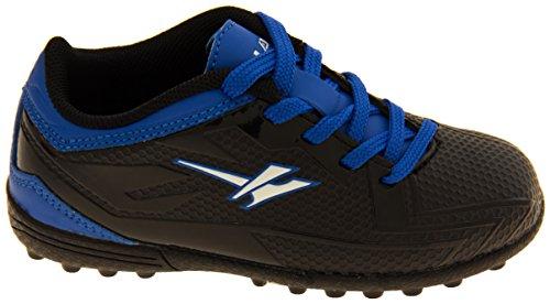 Footwear Studio - Botas de fútbol para niño negro negro Negro y Azul