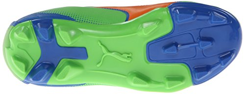 Adreno ferme terrain de football junior taquet (enfant en bas ?ge / petit enfant / grand enfant), vert fluorescent / orange vif / princesse bleu, 5,5 M US Big Kid