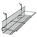Slatwall Shelving 23.5'' x 6'' x 4'', Black, Fits Slatwall and Gridwall