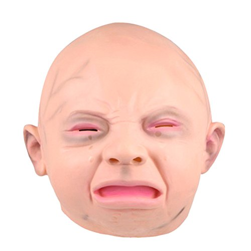 (Tinksky Crying Baby Latex Mask Costume Accessory Child Baby Head Mask For Cosplay)