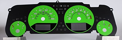 US Speedo Daytona Edition Jeep Wrangler JK Gauge Face Lime Green 2015-2018