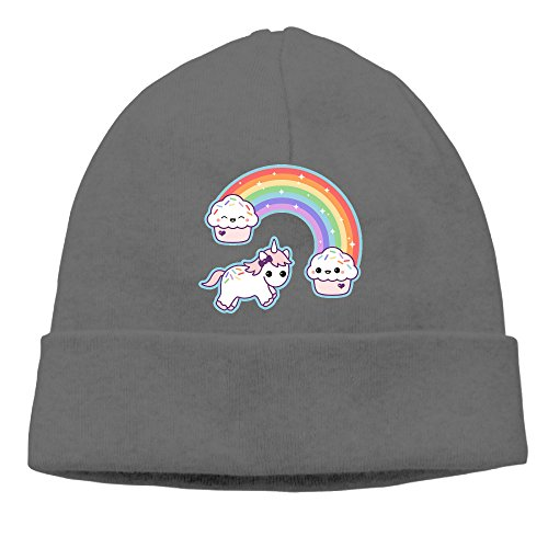 XUri Cupcake Unicorn Unisex Daily Beanie DeepHeather -