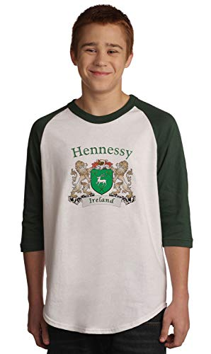 Hennessy Irish Coat of Arms Jersey Tee 3/4 sleeve