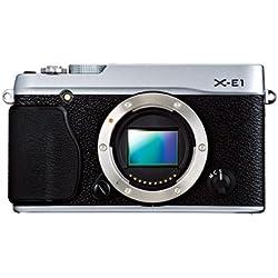 Fujifilm X-E1 Fotocamera Digitale 16 MP, Sensore CMOS X-Trans APS-C, Ottiche Intercambiabili, Mirino Ibrido, Solo Corpo, Nero/Argento