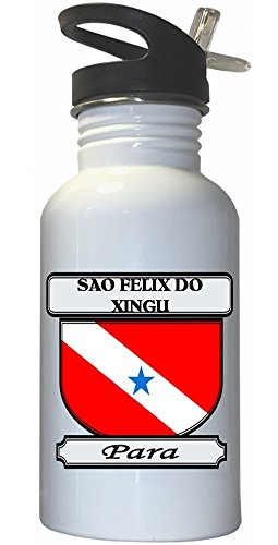 sao-felix-do-xingu-para-city-white-stainless-steel-water-bottle-straw-top