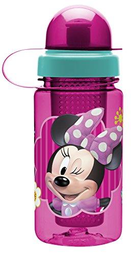 [Zak Designs Kitchen Minnie Mouse Infuser Bottle, 15.5-Ounce, Multicolored] (Theme Bottle)