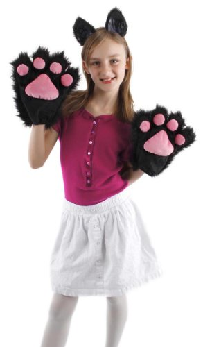 Kitty Soft Paws Costume (elope Black Kitty Paws)