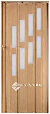 Plegable puerta corredera puerta con cerradura y ventana H 203 cm, madera de aliso W 85 cm doble – pared perfil nuevo: Amazon.es: Bricolaje y herramientas