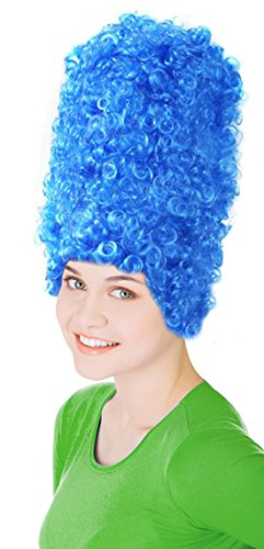 Beehive Wig Costume (Women's Blue Beehive Marge Simpson Wig Costume)