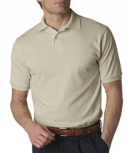 jerzees-adult-jersey-polo-with-spotshield-sandstone-xlarge