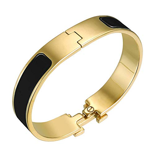 Fashion Titanium Steel Bracelets Buckle Bangle Love Bracelet Enamel Bracelet Jewelry for ()