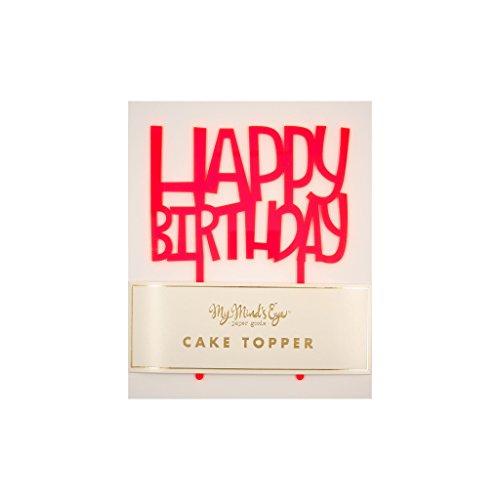 My Mind's Eye Happy Birthday Cake Topper -